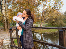 Moeder met baby Royalty-vrije Stock Foto