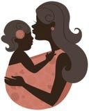 Moeder met baby in een slinger stock illustratie