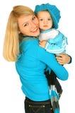Moeder met babyjongen Stock Fotografie