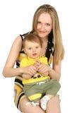 Moeder met babyjongen Royalty-vrije Stock Afbeelding