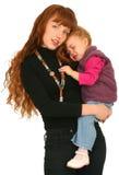 Moeder met babymeisje Royalty-vrije Stock Foto's