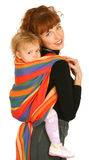 Moeder met babymeisje Stock Fotografie