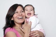 Moeder met de baby Stock Foto's