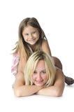 Moeder met dochter Stock Afbeeldingen
