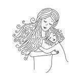 Moeder met dochter Royalty-vrije Stock Afbeelding