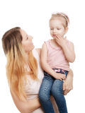 Moeder met dochter Stock Foto's