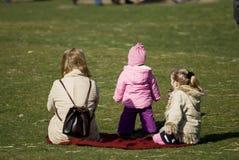 Moeder met dochters stock fotografie