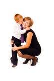 Moeder met een zoon royalty-vrije stock foto