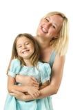 Moeder met geïsoleerdee dochter Royalty-vrije Stock Fotografie
