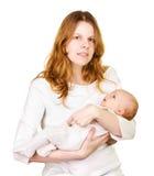 Moeder met haar baby royalty-vrije stock afbeeldingen