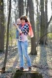 Moeder met haar weinig baby Royalty-vrije Stock Afbeelding