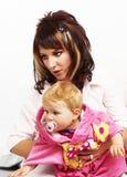 Moeder met haar weinig kind Royalty-vrije Stock Afbeeldingen
