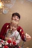 Moeder met haar zoon Royalty-vrije Stock Fotografie