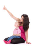 Moeder met kind Royalty-vrije Stock Foto's