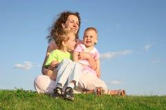 Moeder met kinderen royalty-vrije stock foto