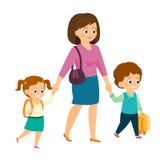 Moeder met kinderen Royalty-vrije Stock Foto's