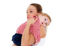 Moeder met kleine baby Royalty-vrije Stock Foto's