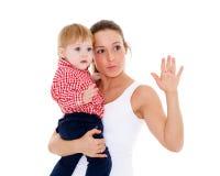 Moeder met kleine baby Royalty-vrije Stock Afbeeldingen