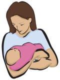 Moeder met Pasgeboren Stock Foto