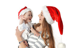Moeder met weinig dochter Royalty-vrije Stock Afbeeldingen