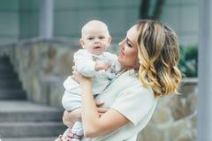 Moeder met zijn Kind Royalty-vrije Stock Foto