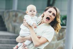 Moeder met zijn Kind Stock Foto