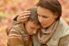Moeder met zoon Royalty-vrije Stock Afbeelding