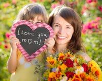 Moeder` s dag Stock Foto