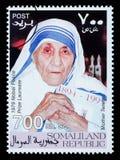 Moeder Teresa Postage Stamp Royalty-vrije Stock Foto