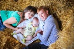moeder, vader en dochter Royalty-vrije Stock Fotografie