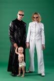 Moeder, vader en zoon Stock Foto's