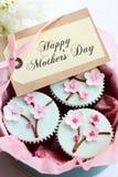Moederdag cupcakes Royalty-vrije Stock Foto