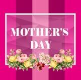 Moederdagkaart, Roze kleur, Bloem royalty-vrije stock foto