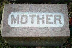 Moedergrafsteen Stock Foto
