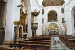 Moederkerk van St. Pietro. Putignano. Puglia. Italië. royalty-vrije stock foto