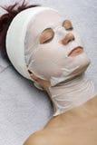 Moederkoek-collageen masker royalty-vrije stock foto