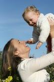 Moederlijke liefde Stock Foto's
