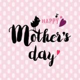 Moedersdag het Van letters voorzien Royalty-vrije Stock Afbeeldingen