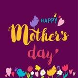 Moedersdag het Van letters voorzien Stock Fotografie