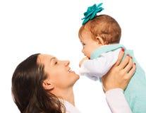 Moederspel met baby Royalty-vrije Stock Fotografie