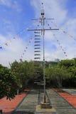 Moedig spel--ladder van scherpe messen wordt gemaakt dat royalty-vrije stock foto's