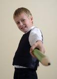 Moedige schooljongen met potlood Royalty-vrije Stock Fotografie