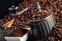 Moedor de café fotografia de stock