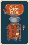 Moedor de café com copo Fotografia de Stock Royalty Free