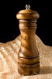 Moedor de pimenta de madeira Foto de Stock Royalty Free