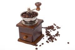 Moedor isolado do feijão de café Fotografia de Stock Royalty Free