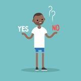 Moeilijk besluit Ja of Nr Conceptuele illustratie stock illustratie