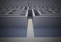 Moeilijk labyrintraadsel stock illustratie
