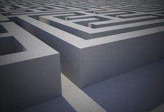 Moeilijk labyrintraadsel vector illustratie