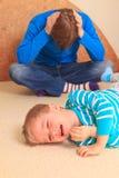 Moeilijk ouderschap Royalty-vrije Stock Afbeeldingen